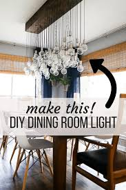 how to make a gorgeous diy dining room light