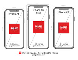 Iphone Actual Size Comparison Chart Print These Iphone Xr Xs Xs Max Cutouts To See Which Size