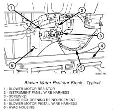 2003 dodge durango blower motor resistor wiring harness 2003 2004 dodge grand caravan front blower is not working put on 2003 dodge durango blower motor