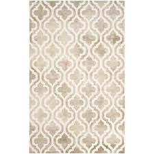 safavieh dip dye 10 x 14 hand tufted wool rug in beige and ivory ddy537g 10