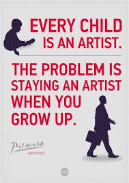 Pablo Picasso Quote... - GRAFFLICKS.COM via Relatably.com