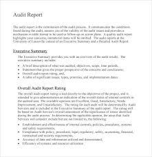 Sample Audit Report Template