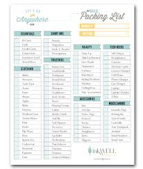 Packing Check List Free Download Travel Packing Checklist Inkwell Press