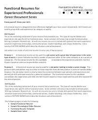 Sample Functional Resume Template Examples Of Resume Skills Best ...