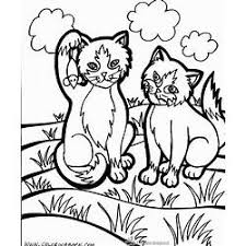 Kittens With Flowers Coloring Page Gardening Flower And Vegetables