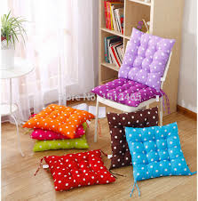 square candy color polka dot soft dining chair seat pad filled ties cushion decor 40 40cm decorative pillows summar style in cushion from home garden on