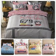 stripe plaid letter creative duvet cover bedding set 3 4 pcs bedclothes 1 5m 1 8