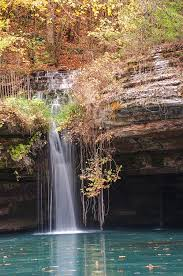 Dogwood Canyon Nature Park Waterfall in Autumn Photograph by Gregory Ballos