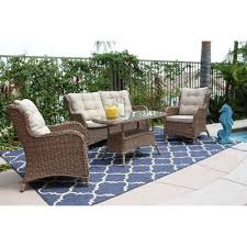 outdoor dining chair cushions set of 4 fresh royal canterbury 4 piece outdoor wicker conversation set