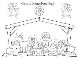 nativity coloring sheet glory to the newborn king in nativity coloring page color luna