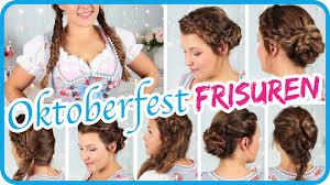 Einfache Oktoberfest Frisuren Zum Dirndl Ii Sissi Youtube
