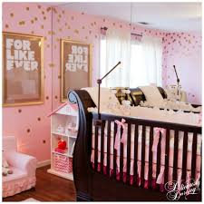 deliciously darling pink and gold nursery