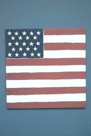 flag painting painted on wood pallet american wooden design decor license plates pub party metal tin