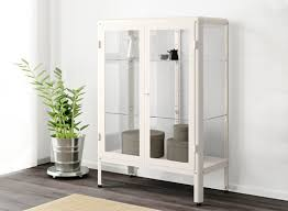 Metal storage cabinets with doors Mandra Tavern FabrikÖr Glassdoor Cabinet In White Doragoram Storage Cabinets Storage Cupboards Ikea