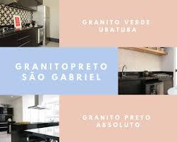 #marmorariapedrasil #cozinha #decor #designdeinteriores #granitopreto. Granitos Escuros Preto Sao Gabriel Preto Absoluto E Verde Ubatuba Asp Conceito Em Marmores E Granitos