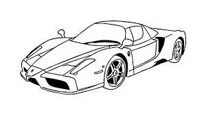 How To Draw A Ferrari Enzo Car Youtube