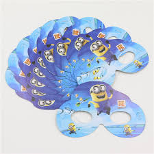 Mask Decorating Supplies 100pcslot Birthday Despicable Me 100 minion Theme Party Mask 84