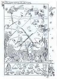 This is a delightful gift idea for young puzzlers. Summer Fun Hidden Picture Puzzle Coloring Page Hidden Picture Puzzles Hidden Pictures Printables Hidden Pictures