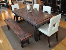 rustic dining room tables and chairs. Stylish Rustic Dining Room Table With Bench And Chairs Country Style Tableawesome Tables