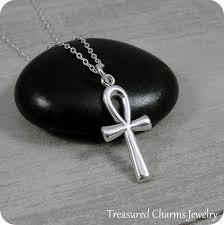 ankh necklace sterling silver ankh