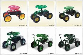 garden seat on wheels. Agricultural Tractor Seat Rolling Garden On Wheels With Tool Tray TC4501B