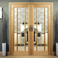interior doors with glass oak door pair with clear safety glass internal doors glass panels