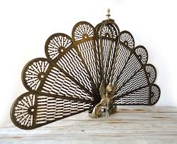 Antique Brass Fireplace Screens Style Home Design Excellent And ...