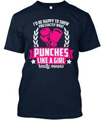 Shirtpunch Size Chart Boxing Fanatics Shirt Punch Like Girl