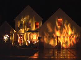 halloween lighting. fire house halloween display lighting o