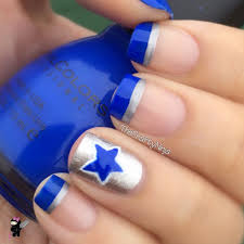 Dallas Cowboys Nail Art Tutorial | The Crafty Ninja