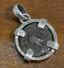 genuine ancient roman coin featuring arcadius and sterling silver pendant