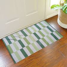 2x3 green cotton rug