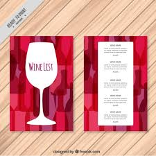 Free Wine List Template Download Wine List Template With Colorful Background Vector Free Download