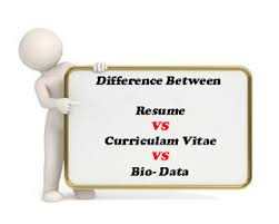 Difference Between A Resume Cv And Bio Data