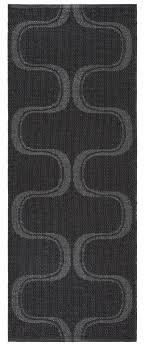 swedy indoor outdoor rugs waves black grey