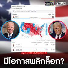 ข่าวช่องวัน - ผลเลือกตั้งประธานาธิบดีสหรัฐ ล่าสุดเวลา...