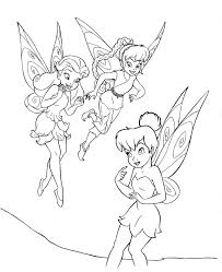 Coloring Pages Free Printable Tinkerbell Coloring