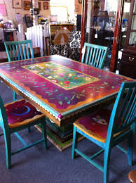 gorgeous hand painted table and chairs now i can t decide how to do our table hmmm