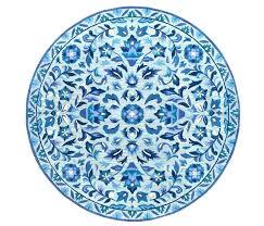 small round rug circle