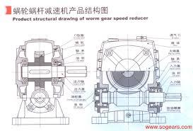 Speed Reduction Gearbox Design Wp Series Worm Gear Speed Reducer