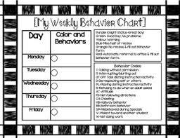 Weekly Behavior Chart For Home Weekly Behavior Chart
