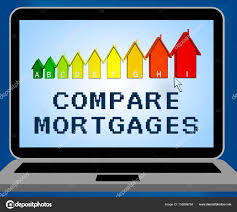 Compare Mortgages Representing Home Loan 3d Illustration Stock