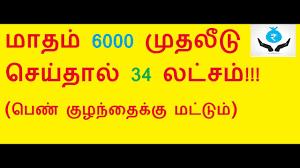 Ssy Sukanya Samriddhi Yojana Post Office Savings Schemes Selvamagal Scheme Ponmagal Tamil