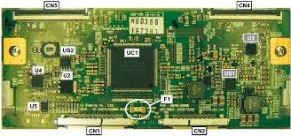 lg tv fuse. check the fuse f1 12v rails. lg tv l