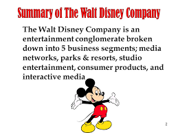 Disney Conglomerate Chart 1 The Walt Disney Company Is An Entertainment Conglomerate