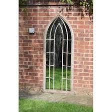 garden gothic arch mirror 61 x 150 cm