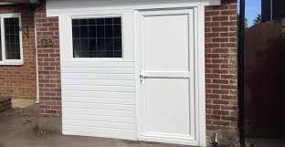 converting a garage door into an entrance