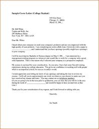 Cover Letter Sample College Student Pointrobertsvacationrentals