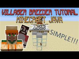 villager breeder tutorial minecraft