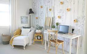 Home office refresh with wallpaper ...